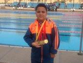 محمد عبد الوهاب أصغر لاعبى الشمس يحصد 5 ذهبيات فى بطولة الجمهورية للسباحة