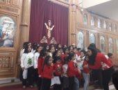 """صور.. كنيسة مارمينا بالمهندسين تبدأ احتفالات """"الكريسماس"""" بكورال الأطفال"""