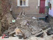 سقوط أجزاء من عقار قديم بحى الجمرك بالاسكندرية بدون إصابات
