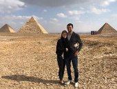 ابنة بيل جيتس تختار صورة من أمام الأهرامات كأفضل لحظاتها فى 2018