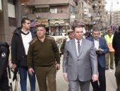 صور.. مدير أمن المنوفية يتفقد الخدمات الأمنية بمدينة شبين الكوم