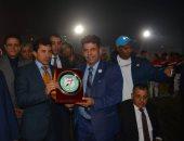 أشرف صبحي يشهد المهرجان الرياضي بحي الاسمرات