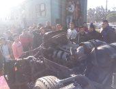صور.. العناية الإلهية تنقذ ركاب قطار الإسكندرية من الموت المحقق