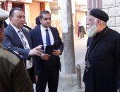 صور.. مدير أمن المنوفية يتفقد خدمات تأمين  الكنائس بمدينة شبين الكوم