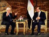 """الرئيس السيسي يستقبل """"أبو مازن"""".. ويؤكد: القضية الفلسطينية ستظل أولوية"""