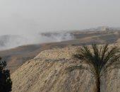 قارئ يناشد منع حرق المخلفات بمنطقة جبلية خلف مساكن ومستشفى حلوان العام