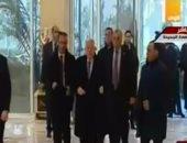 فيديو.. الرئيس الفلسطينى يصل مقر افتتاح مسجد وكنيسة العاصمة الإدارية