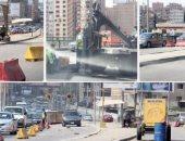نشر خدمات مرورية بمحيط استاد القاهرة بسبب أعمال تطوير بطريق النصر