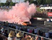 حرقوا 126 إطارا.. حكاية أقوى مهرجان للتخميس بالسيارات فى أستراليا.. صور