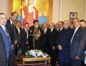 البابا تواضروس يلتقى بهاء ابو شقة وقيادات حزب الوفد بالكاتدرائية