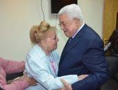 10 صور من كواليس تكريم الرئيس الفلسطينى لـ نادية لطفى