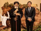 """البابا يستقبل وفدا من صندوق """"تحيا مصر"""" للتهنئة بعيد ميلاد المسيح"""