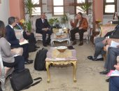 محافظ بنى سويف يلتقى وفدى التنمية المحلية والتخطيط لبحث موقف المشروعات