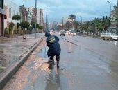فيديو وصور..هدوء نسبى فى شدة الرياح بالإسكندرية واستمرار هطول الأمطار