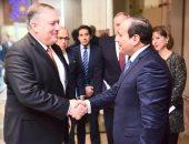 الرئاسة: التأكيد على عمق الشراكة الاستراتيجية خلال لقاء السيسى ووزير خارجية أمريكا