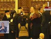 """الوفد الكنسى بكاتدرائية ميلاد المسيح لـ""""بومبيو"""": السيسي رئيس لكل المصريين"""