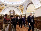 """زيارة بومبيو لمسجد """"الفتاح العليم"""" وكاتدرائية """"ميلاد المسيح"""""""