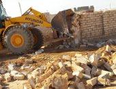 إزالة تعدي على أراضي الدولة  بمساحة 5200 متر بمدينة براني في مطروح