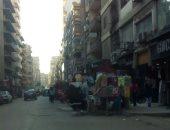 سكان شارع متحف المطرية بعين شمس يستغيثون من احتلال الباعة الجائلين للأرصفة