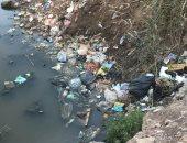 قارىء يشكو انتشار القمامة على جانبى المصرف الصحى بقرية بكفر الشيخ