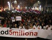 الاحتجاجات الحاشدة ضد الرئيس الصربى تدخل أسبوعها السادس