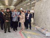 محافظ بنى سويف يزور مصانع أسمنت الشركة الوطنية ومجمع الرخام والجرانيت