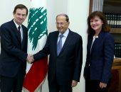 الرئيس اللبنانى لمسؤول أمريكى: نتمنى استئناف عملية ترسيم الحدود بالجنوب