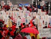 مسيرات حاشدة وإضرابات للمعلمين فى لوس أنجلوس بسبب زيادة الرواتب