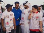 منصور بن راشد يشارك فى مبادرة نمشى معا للتوعية بدمج أصحاب الهمم فى المجتمع