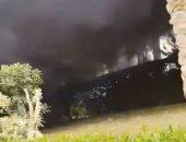 فيديو وصور.. حريق داخل فيلا ومخزن بمدينة العبور دون إصابات