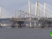 شاهد.. لحظة تفجير جسر تاريخى فى نيويورك يعود لعام 1955