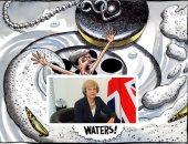 """صور.. """"صفعة بريكست"""" فى عيون كاريكاتير الصحافة العالمية.. رئيسة الوزراء البريطانية فى مرمى النيران بعد رفض خطة الخروج من الاتحاد الأوروبى.. ودعوات لإجراء استفتاء جديد لتجنيب لندن """"سيناريوهات الفوضى"""""""