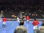 صور .. إحماء منتخب مصر لكرة اليد قبل مواجهة المجر فى كأس العالم