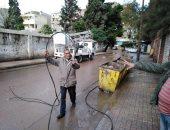 صور.. سقوط كابل كهرباء مغذى لإحدى المدارس بالإسكندرية بسبب الطقس
