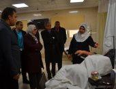 صور ..وزيرة الصحة فى زيارة مفاجئة لمستشفى بلطيم