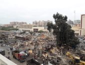 صور.. إزالة 229 كشك بجوار محطة سكة حديد بورسعيد