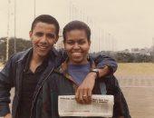 بصورة أيام الشباب  .. باراك أوباما يهنئ زوجته ميشيل بعيد ميلادها