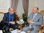 محافظ القاهرة يستقبل السكرتير الدائم للمدن الفرانكوفونية