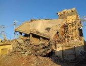 الجيزة تزيل 4 عقارات مخالفة بحرم المنطقة الأثرية فى الهرم