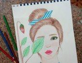 قارئة تشارك صحافة مجموعة من لوحاتها تبرز موهبتها الفنية
