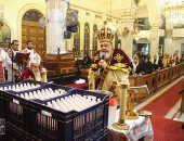 فيديو وصور.. الأقباط يؤدون صلاة قداس عيد الغطاس بالغربية
