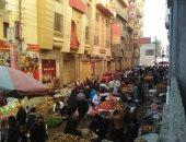 قارئ يشكو وجود سوق شعبى بتقسيم المدينة المنورة فى دمياط