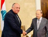شكرى لرئيس لبنان: نثق فى قدرة مؤسسات الدولة اللبنانية على تشكيل حكومة وطنية