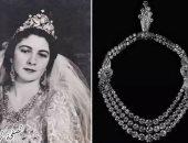 """""""عقد من الماس"""".. شوفى شبكة الملك فاروق للملكة فريدة فى حفل زفافهما"""
