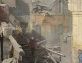 إزالة 6 عقارات مهددة للحياة بمنطقة عرب اليسار بالخليفة