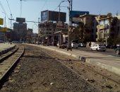 قارئ يطالب برفع قضبان ترام مصر الجديدة ومحطات الانتظار لتسهيل حركة المرور