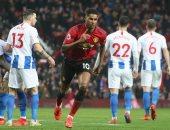 مانشستر يونايتد يعبر برايتون وسولشاير يحقق رقما تاريخيا.. فيديو