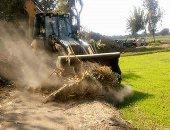 إزالة التعديات على الأراضى الزراعية والمبانى المخالفة بقريتين بدمياط