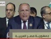 سامح شكرى بقمة بيروت: مستعدون لنقل خبرة مصر فى مجال الكهرباء للدول العربية