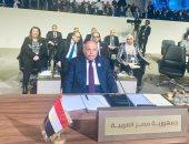 سامح  شكرى يؤكد أهمية العمل العربي المُشترك  لتحقيق التنمية العربية